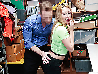 Horny girl fucks LP officer and eats his cum
