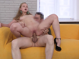 Her first porn casting movie