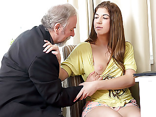 Rita wants to pass her class and having her twat licked seems to work.