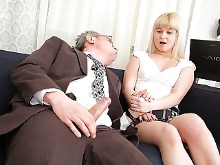 Candy doesn't exactly get much choice in the matter, but she's certainly turned on by her tricky old teacher