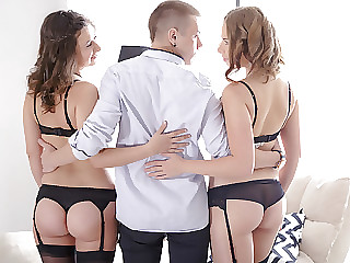 The two girls get fondled by Maia's young boyfriend before trying anal.